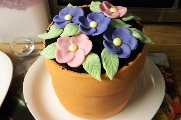 Торт Цветы в горшочке